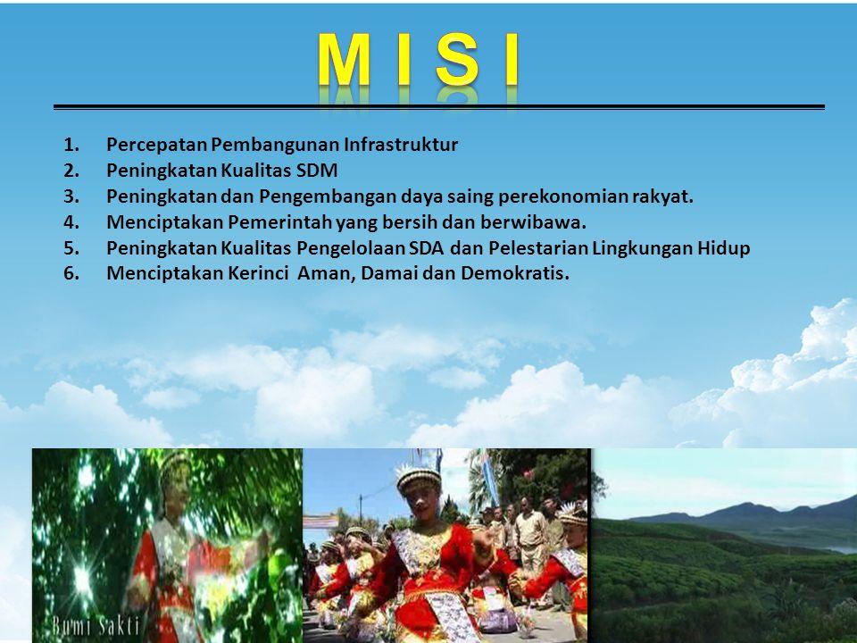 1.Percepatan Pembangunan Infrastruktur 2.Peningkatan Kualitas SDM 3.Peningkatan dan Pengembangan daya saing perekonomian rakyat.