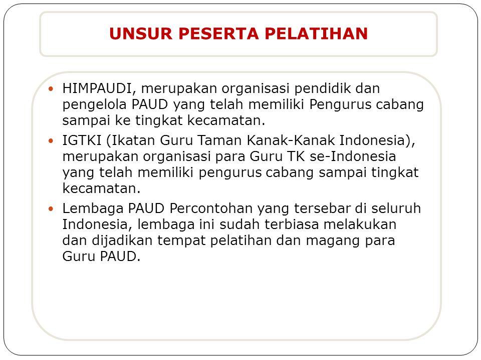  HIMPAUDI, merupakan organisasi pendidik dan pengelola PAUD yang telah memiliki Pengurus cabang sampai ke tingkat kecamatan.  IGTKI (Ikatan Guru Tam