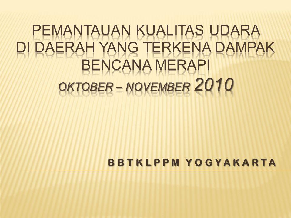  Waktu pemantauan:  Tanggal 25 Oktober s.d.13 November 2010.
