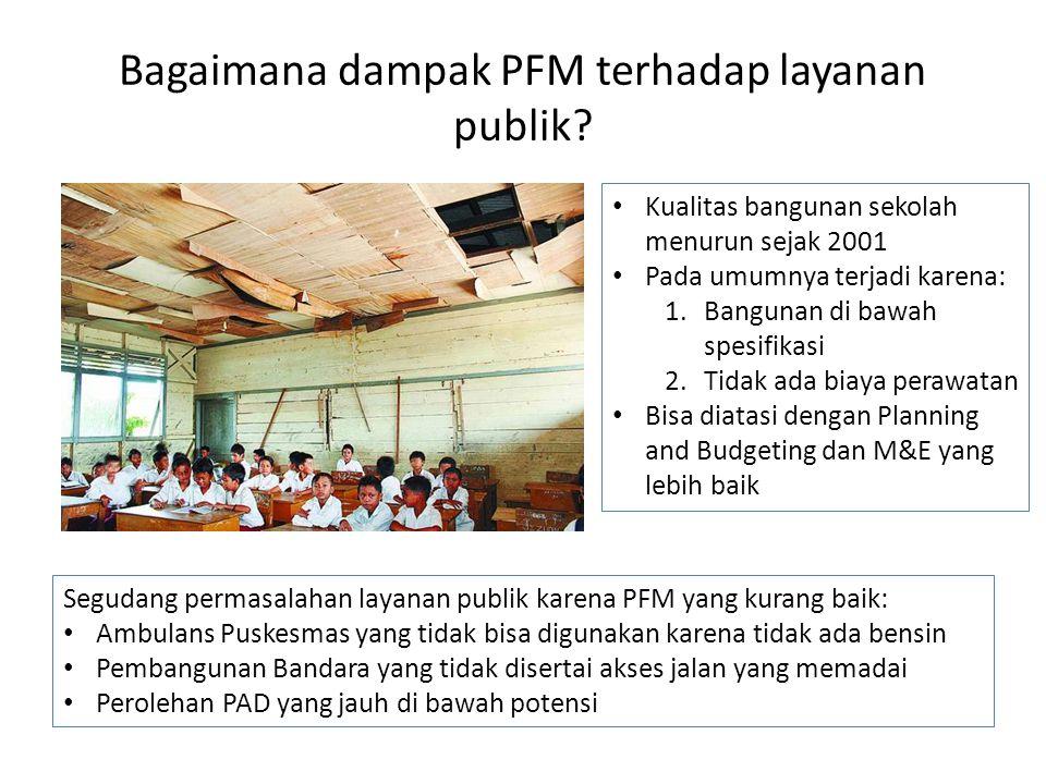 Bagaimana dampak PFM terhadap layanan publik.