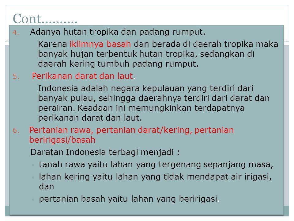 Cont...7. Pertanian di Jawa dan Luar Jawa.