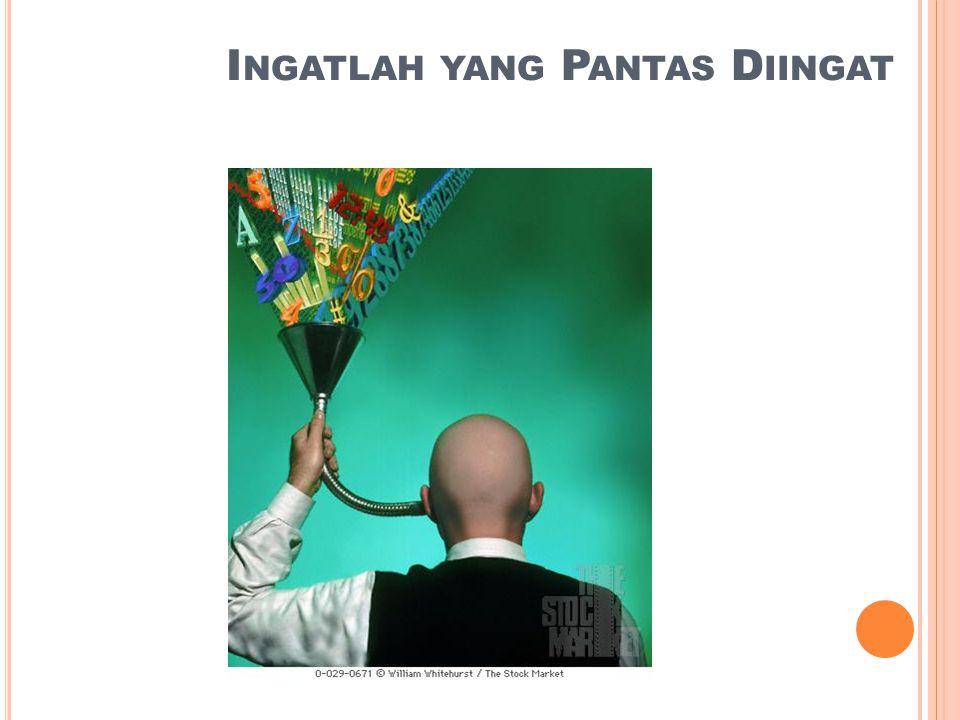 I NGATLAH YANG P ANTAS D IINGAT