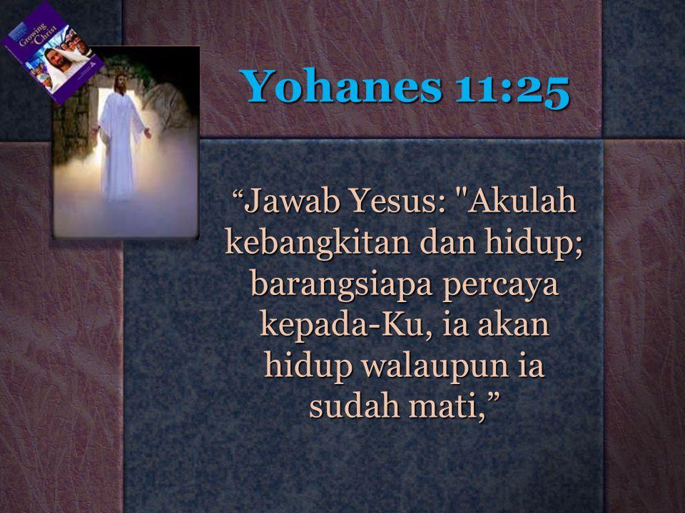 "Yohanes 11:25 "" Jawab Yesus:"