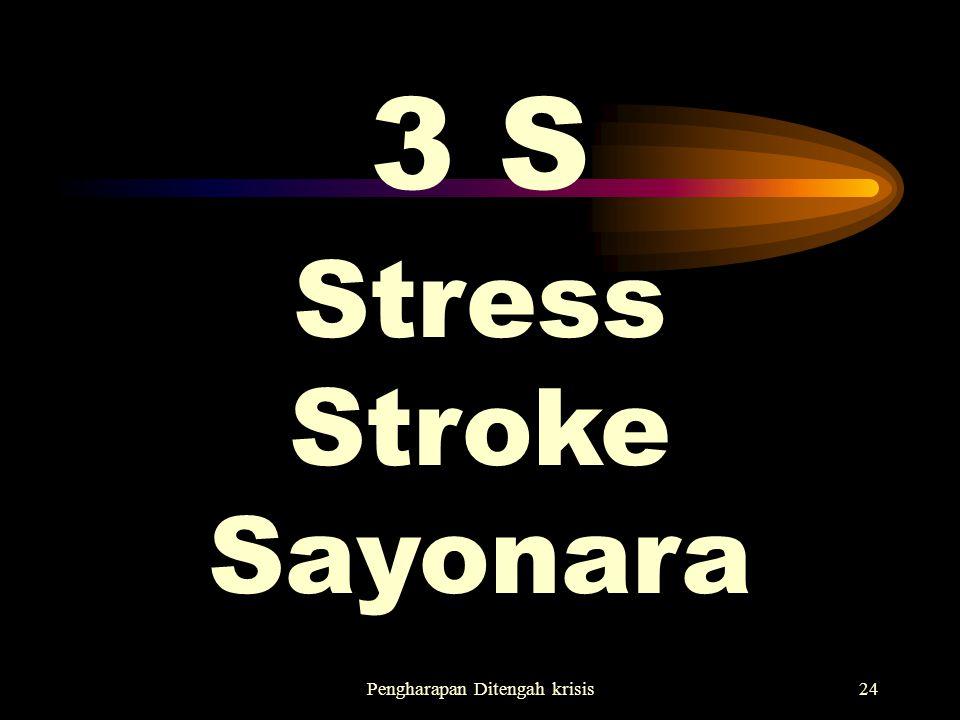 Pengharapan Ditengah krisis24 3 S Stress Stroke Sayonara