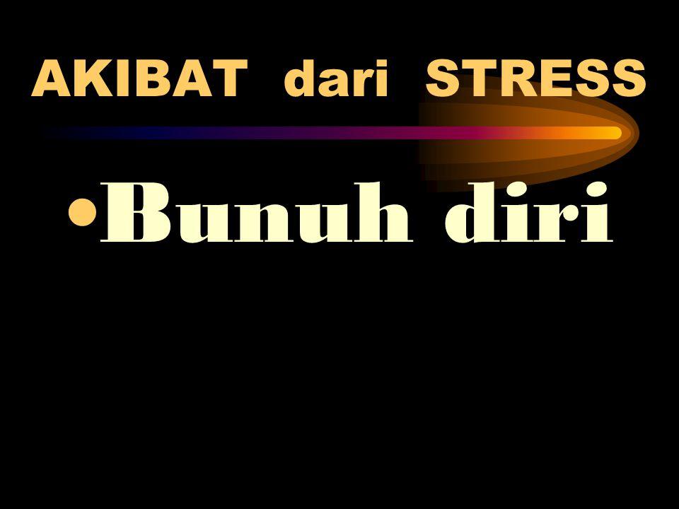 AKIBAT dari STRESS •Bunuh diri