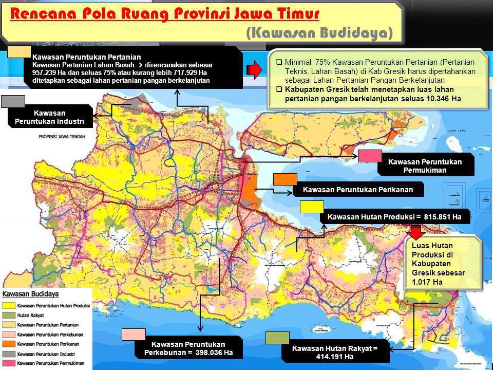 KABUPATEN GRESIK Rencana Pola Ruang di Gresik Perkotaan  Peruntukan lahan sesuai Perda RTRW Kabupaten Gresik tahun 2010 -2030 adalah sebagai kawasan perumahan permukiman, perdagangan jasa, Perikanan dan industri  Permukiman perkotaan Kabupaten Gresik mengarah ke Kec.