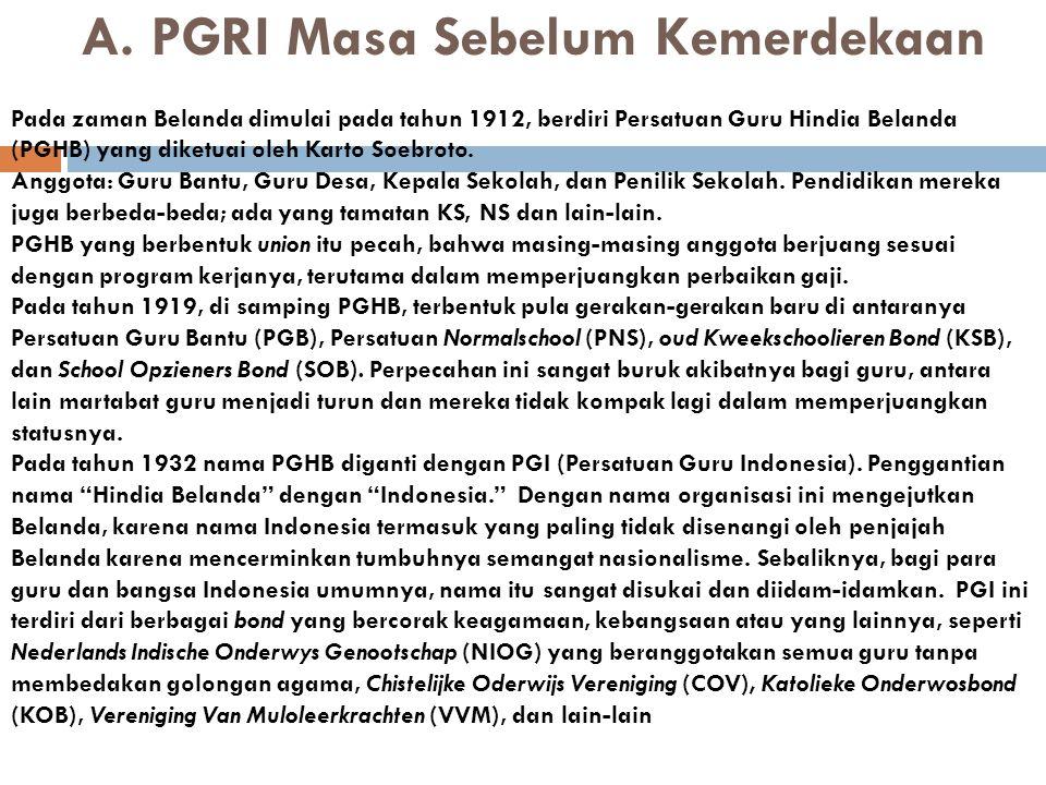 E.PGRI Masa Orde Baru 1.
