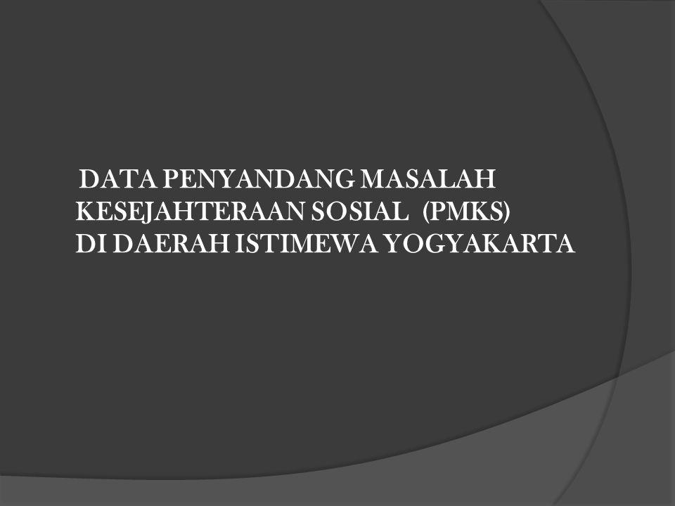 DATA PENYANDANG MASALAH KESEJAHTERAAN SOSIAL (PMKS) DI DAERAH ISTIMEWA YOGYAKARTA