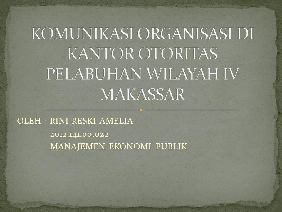 OLEH : RINI RESKI AMELIA 2012.141.00.022 MANAJEMEN EKONOMI PUBLIK