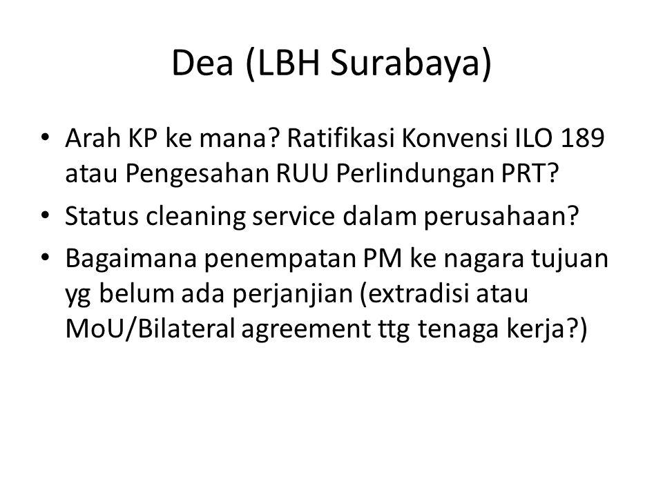 Dea (LBH Surabaya) • Arah KP ke mana.