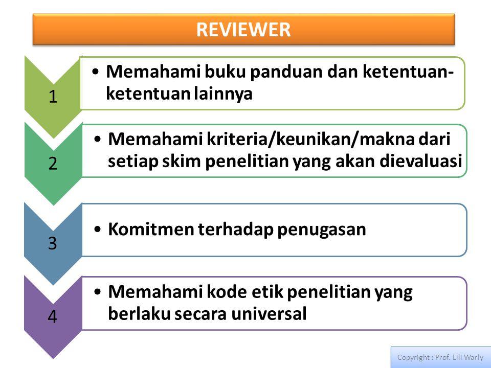 REVIEWER Copyright : Prof. Lili Warly