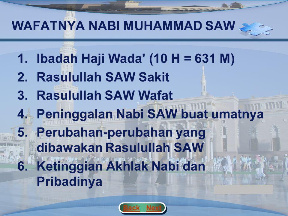 KISAH HIJRAH NABI MUHAMMAD SAW 3.Pertumbuhan Dan Perkembangan Islam Pada Periode Madinah a.Beberapa peperangan penting dan pengaruhnya terhadap pertum
