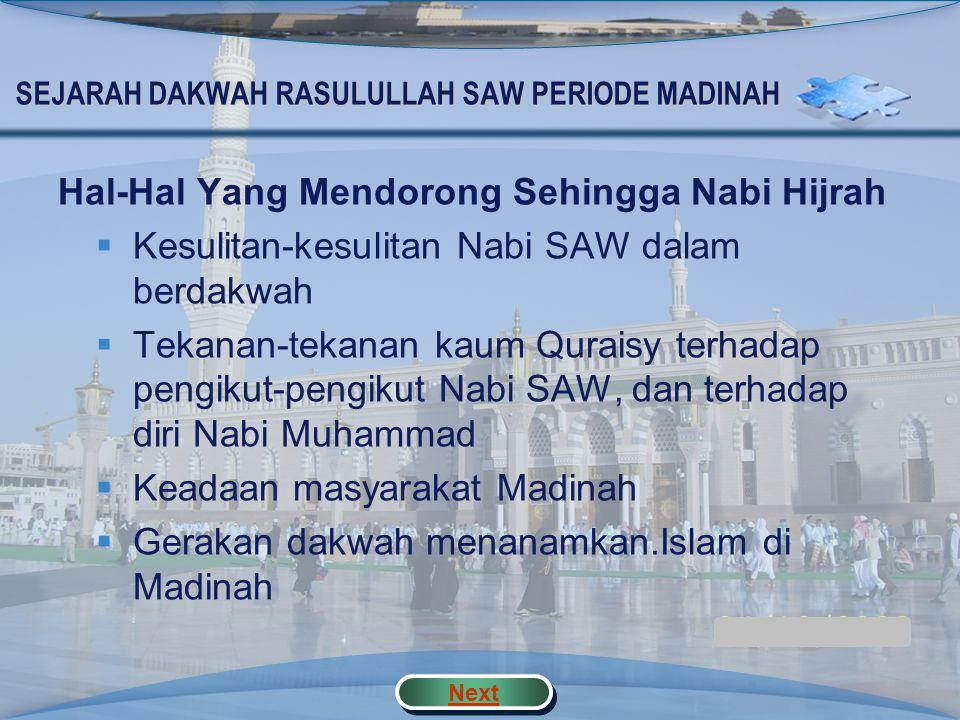 Peta Konsep PERIODEMADINAH STRATEGI DAKWAH Mendirikan masjid Ukhuwah Islamiyah Ukhuwah Wathaniyah Letakkan dasar-dasar Negara Pendorong Kisah Makna Ce