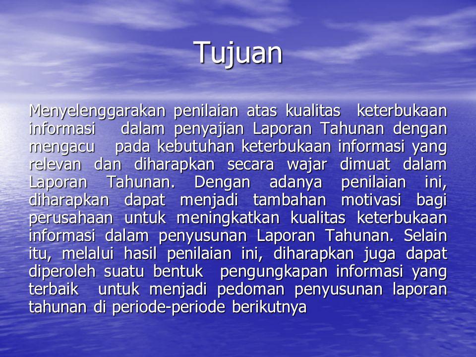 Penyelenggara • Kementerian BUMN • Direktorat Jendral Pajak • Badan Pengawas Pasar Modal • PT Bursa Efek Jakarta • Ikatan Akuntan Indonesia • Komite Nasional Kebijakan Mengenai Corporate Governance