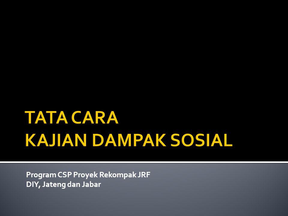 Program CSP Proyek Rekompak JRF DIY, Jateng dan Jabar