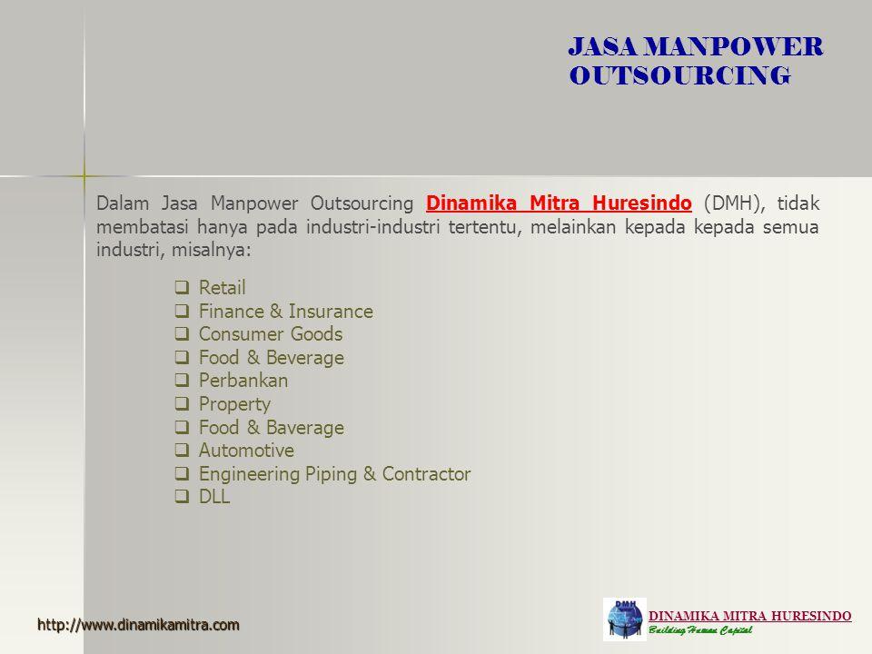 DINAMIKA MITRA HURESINDO Building Human Capital JASA MANPOWER OUTSOURCING Dalam Jasa Manpower Outsourcing Dinamika Mitra Huresindo (DMH), tidak membat
