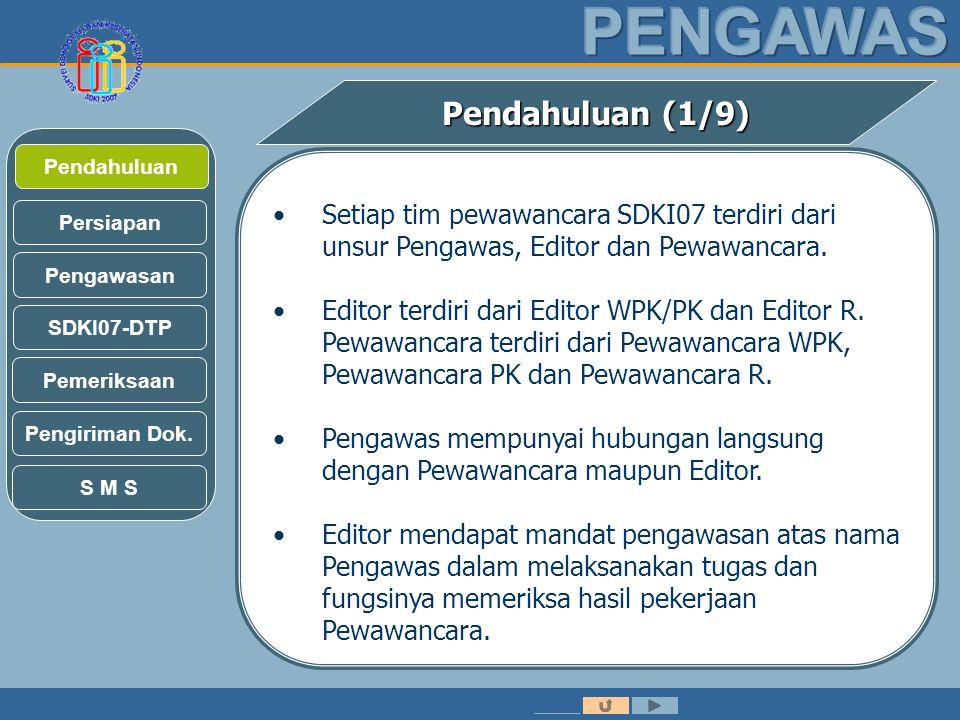 Pengawasan SDKI07-DTP Persiapan Pendahuluan Pendahuluan (1/9) Pemeriksaan Pengiriman Dok.