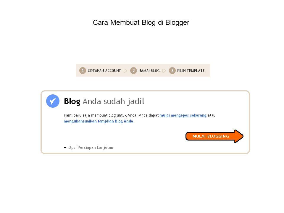 Sekedar Info •Domain sendiri •Banyak pilihan template baik dari blogger maupun dari pihak ke 3.