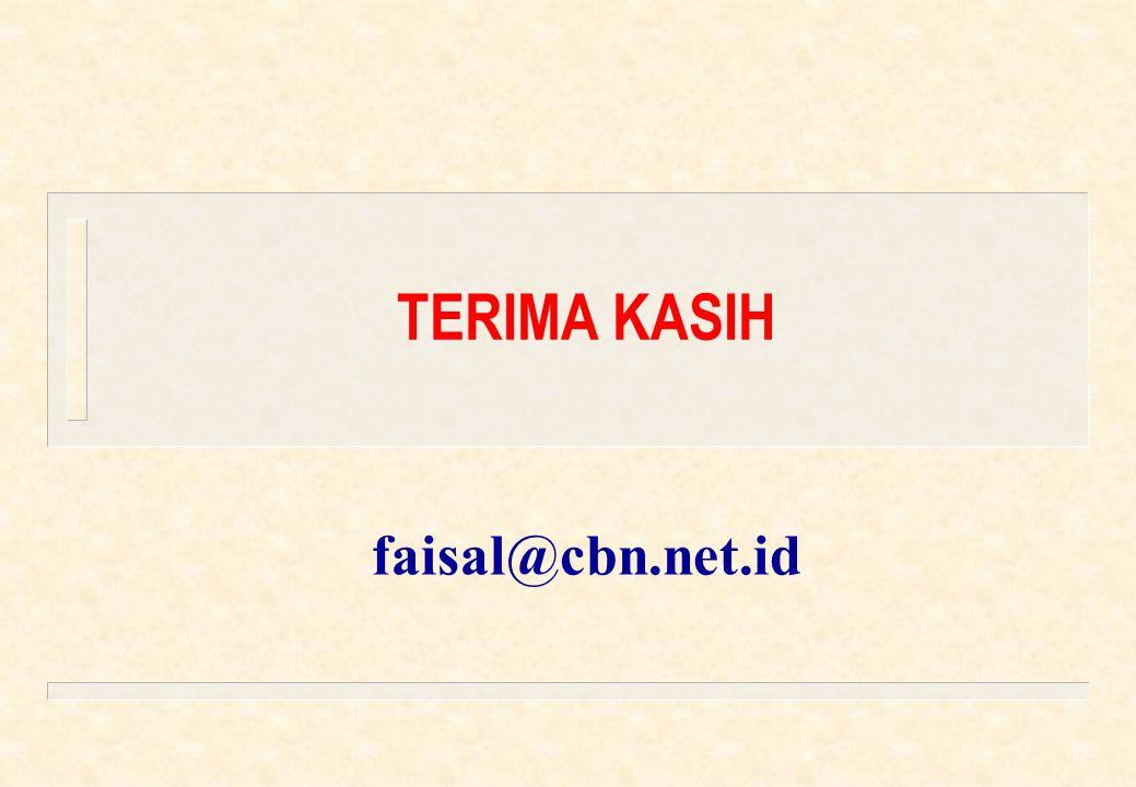 TERIMA KASIH faisal@cbn.net.id