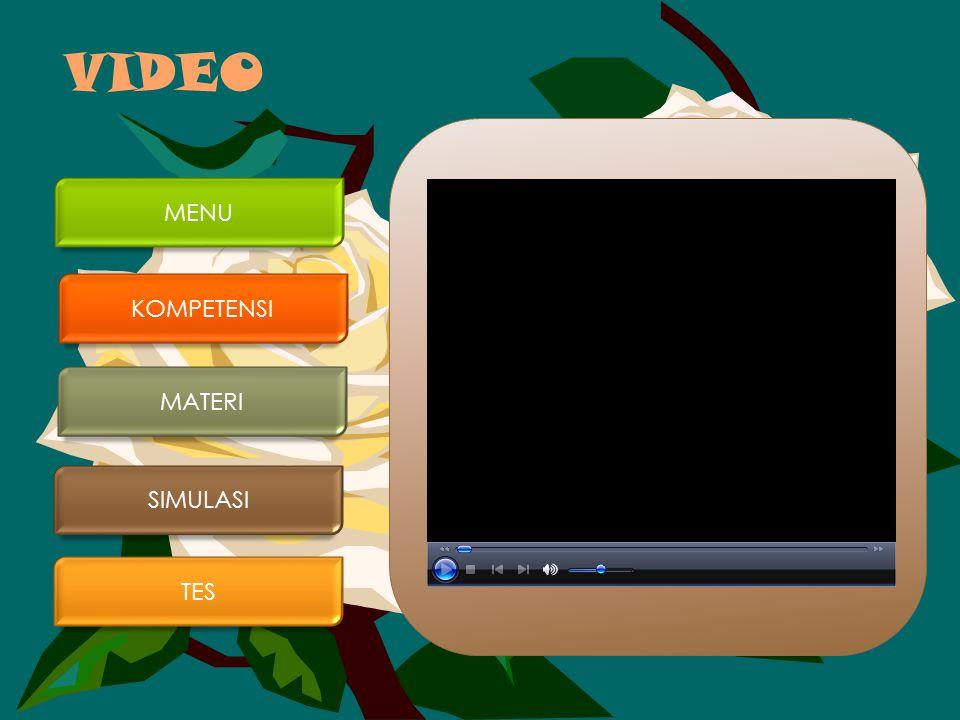 VIDEO MENU KOMPETENSI MATERI SIMULASI TES