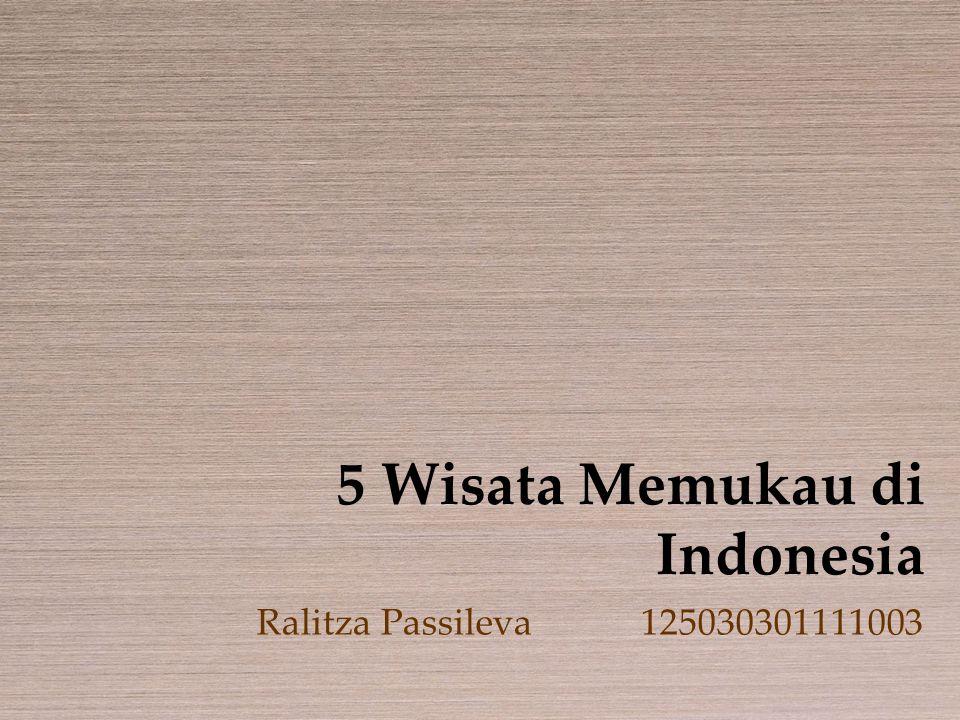 5 Wisata Memukau di Indonesia Ralitza Passileva125030301111003