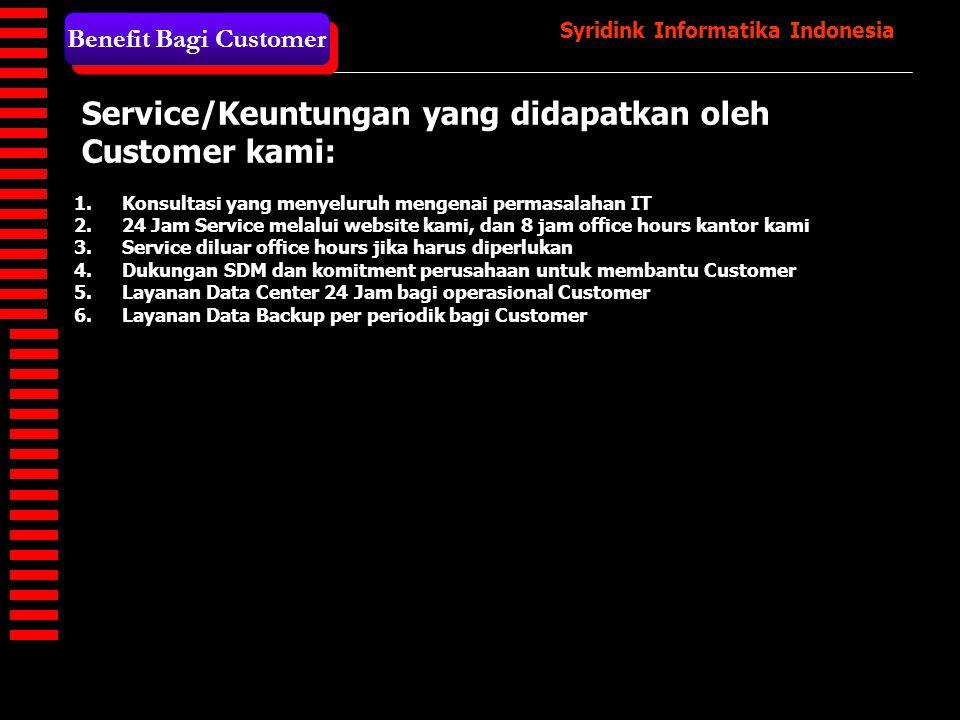 Syridink Informatika Indonesia ASSESSMENT CUSTOMIZATION TRAINING UAT LIVE Metodelogi Implementasi - 1 Strategy Implementasi