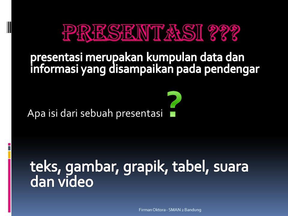 PRESENTASI MS. POWER POINT Firman Oktora - SMAN 2 Bandung