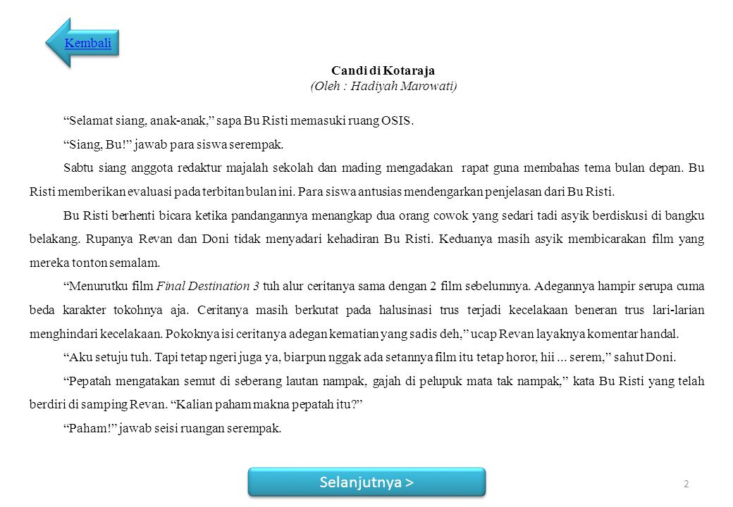 Novelet Candi di Kotaraja 1 Baca
