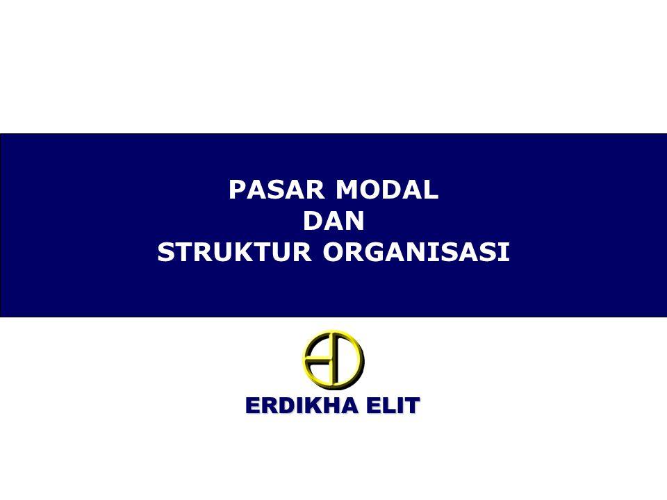 ERDIKHA ELIT PASAR MODAL DAN STRUKTUR ORGANISASI