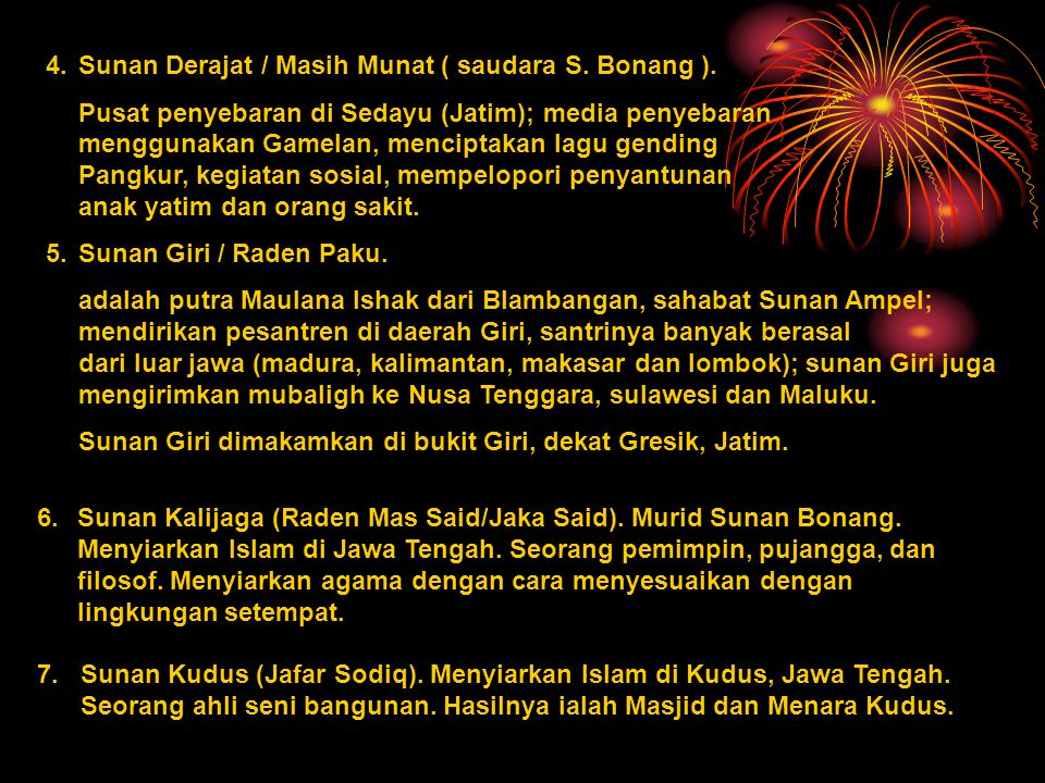 4.Sunan Derajat / Masih Munat ( saudara S.Bonang ).