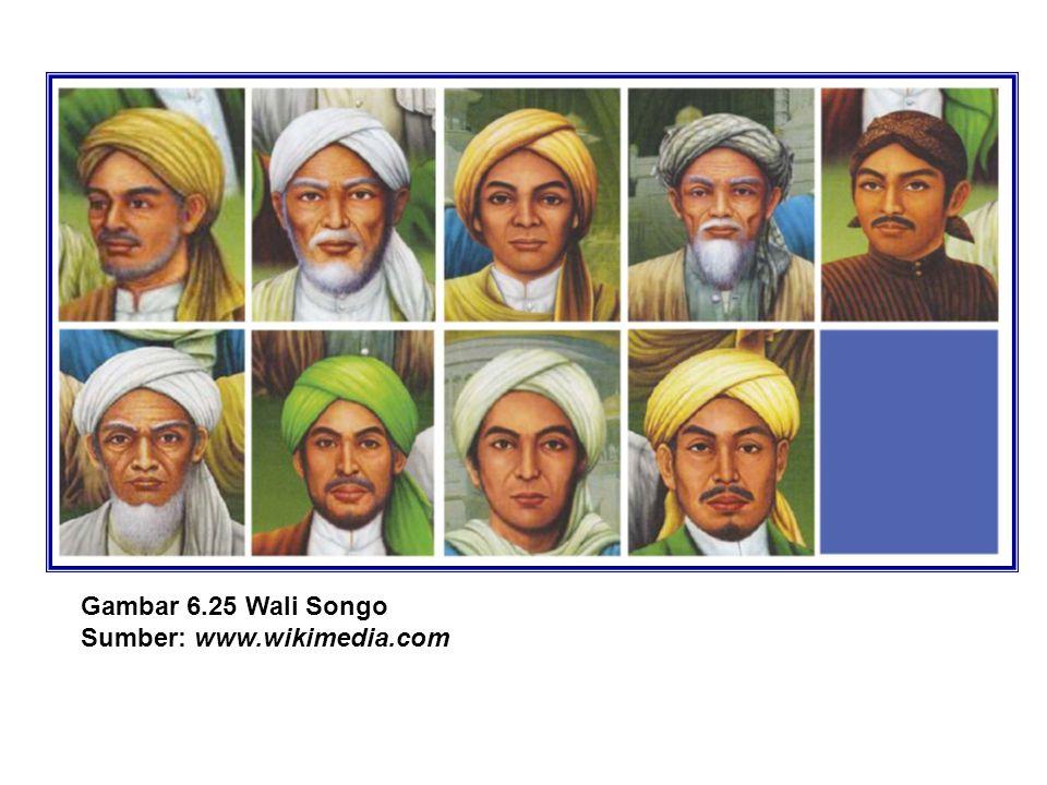 Gambar 6.25 Wali Songo Sumber: www.wikimedia.com