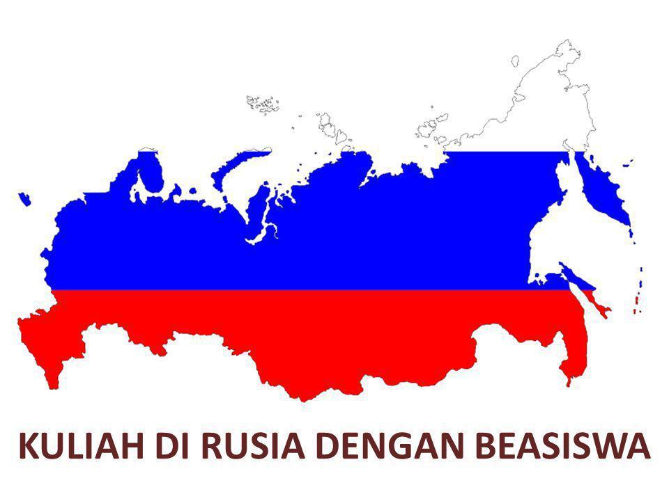 Kuliah di Rusia dengan beasiswa sekilas tentang Rusia Rusia atau Federasi Rusia adalah negara terbesar di dunia yang wilayahnya terbagi dalam 9 zona waktu, dengan penduduk 143 juta orang.