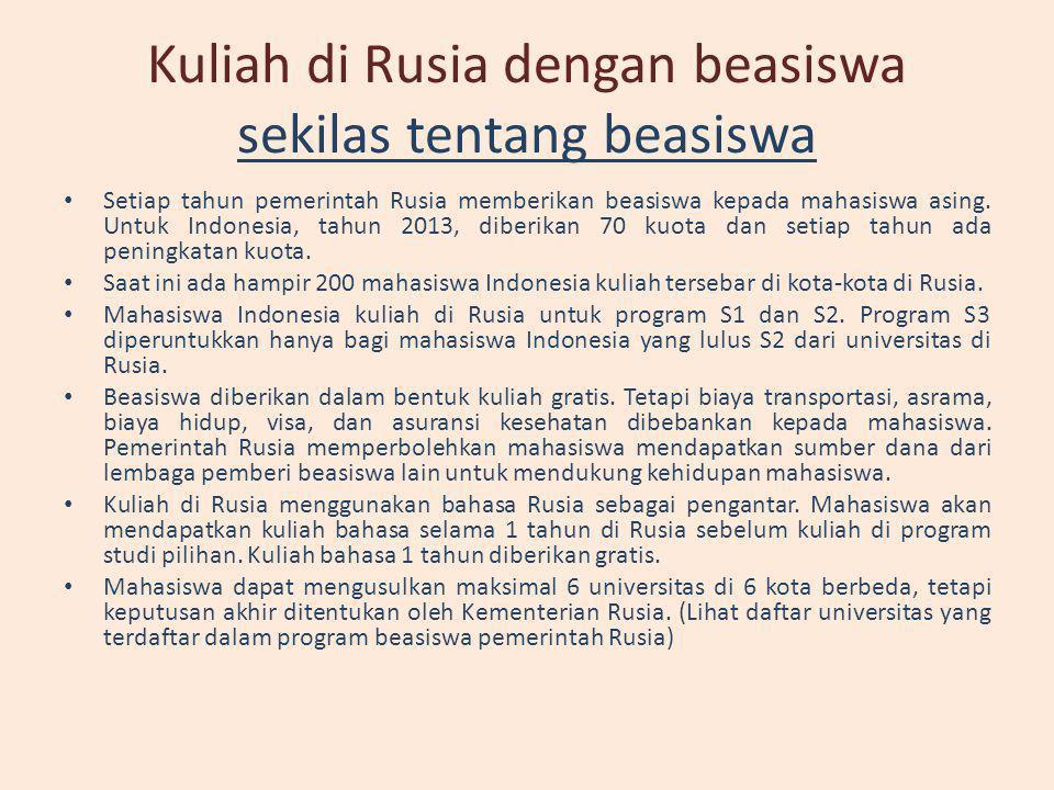 Kuliah di Rusia dengan beasiswa PERMIRA • PERMIRA adalah persatuan mahasiswa Indonesia di Rusia.