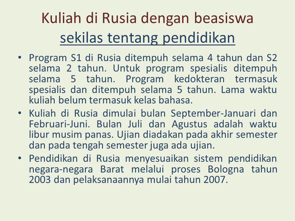 Kuliah di Rusia dengan beasiswa KBRI di Moskow • KBRI di Moskow adalah lembaga diplomatik, perwakilan resmi pemerintah Indonesia di Rusia.