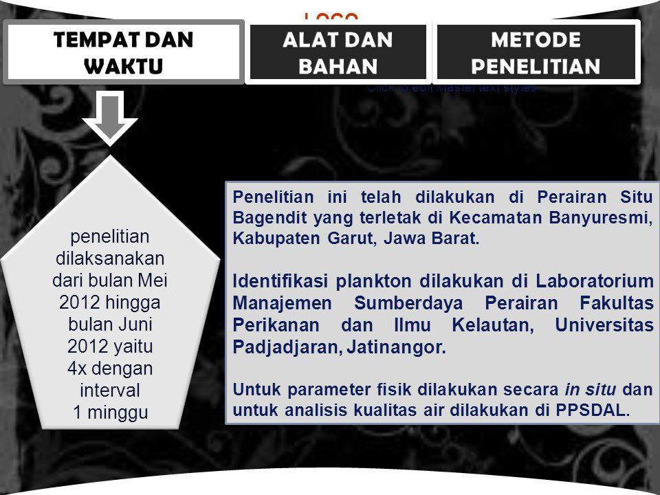 LOGO Click to edit Master text styles Penelitian ini telah dilakukan di Perairan Situ Bagendit yang terletak di Kecamatan Banyuresmi, Kabupaten Garut, Jawa Barat.