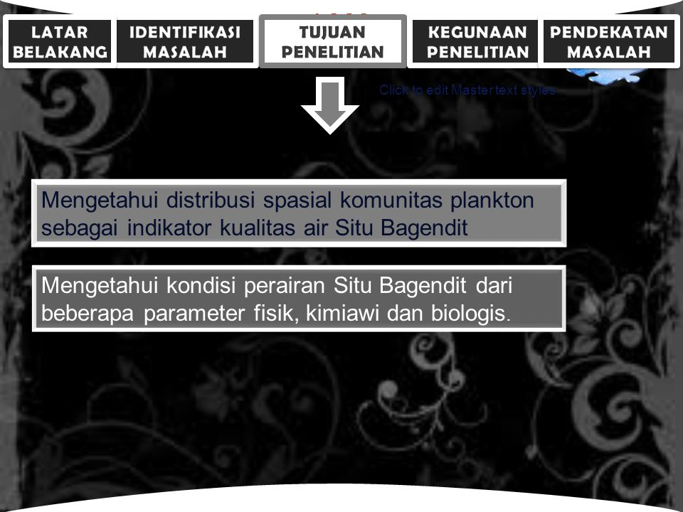 LOGO Click to edit Master text styles Persentase komposisi rata-rata plankton di Situ Bagendit