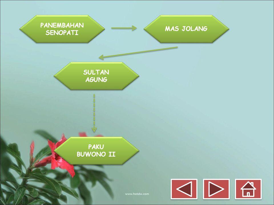 PANEMBAHAN SENOPATI MAS JOLANG SULTAN AGUNG PAKU BUWONO II