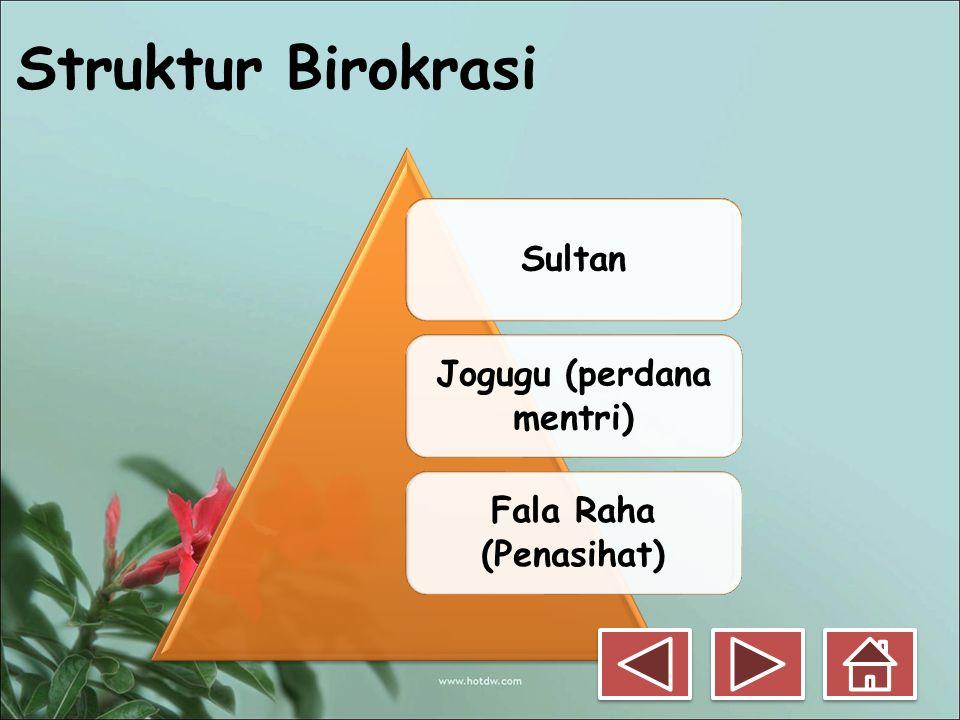Struktur Birokrasi Sultan Jogugu (perdana mentri) Fala Raha (Penasihat)