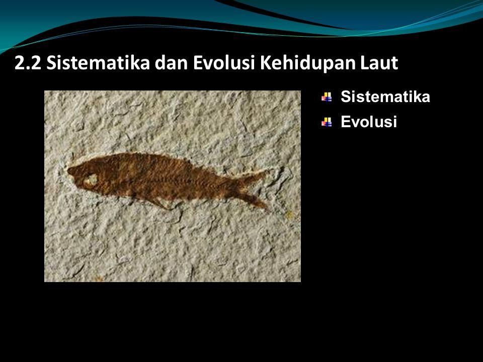 2.2 Sistematika dan Evolusi Kehidupan Laut Sistematika Evolusi