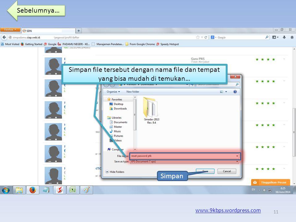 Sebelumnya… www.9kbps.wordpress.com Pada kesempatan ini kita akan mencetak pasword dengan menngunakan Microsoft XPS Document Writer, yang nantinya hasil outputnya berupa file XPS.
