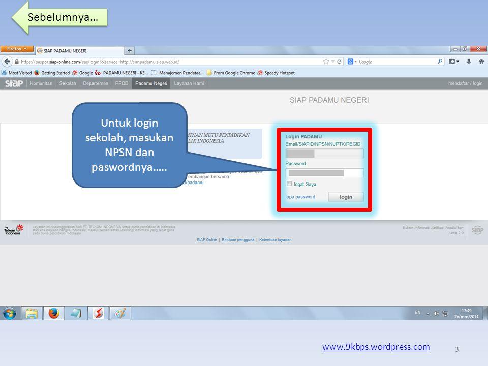Sebelumnya… www.9kbps.wordpress.com Kode pasword telah didapatkan, silahkan sampaikan kepada PTK yang bersangkutan dan selanjutnya untuk mengubah paswordnya.