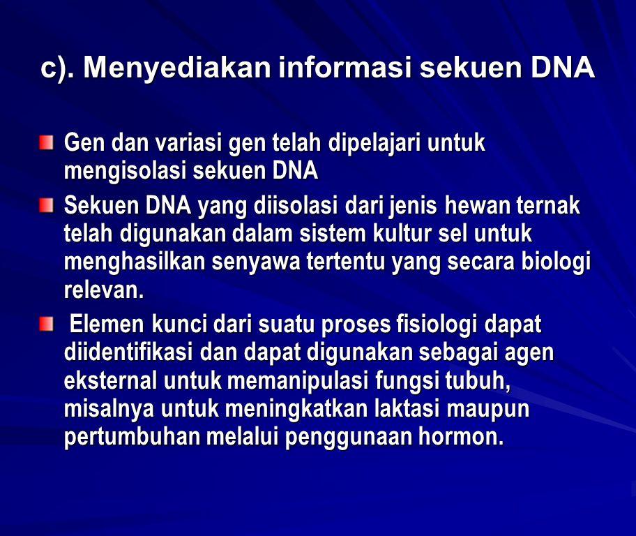 DETEKSI DAN KARAKTERISASI VARIAN GEN DALAM POPULASI Tersedianya berbagai teknik molekuler seperti RFLP, PCR- RFLP, VNTR, RAPD dll telah menjadikan tersedianya informasi-informasi variasi/ polymorfisme DNA hampir pada setiap jenis makhluk hidup Gelderman (1990) menunjukkan adanya beberapa kriteria dari DNA polymorfisme dan penerapannya dalam bidang genetik dan breeding, yaitu: – fragmen hasil restriksi yang dipisahkan dengan elektroforesis dan probe oligonukleotida memungkinkan untuk memonitor secara langsung variasi gen.