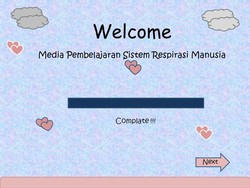 Welcome Media Pembelajaran Sistem Respirasi Manusia Complate !!! Next