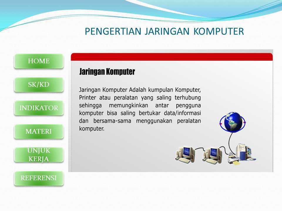 HOME SK/KD INDIKATOR MATERI UNJUK KERJA REFERENSI MODEL JARINGAN BERDASARKAN LUAS AREA  LAN (LOCAL AREA NETWORK)  WAN (WIDE AREA NETWORK)  MAN (METROPOLITAN AREA NETWORK)