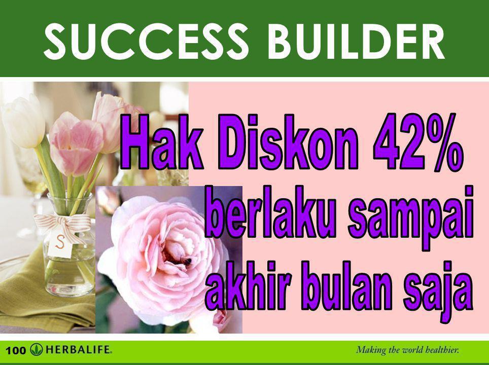 """SUCCESS BUILDER, Hak Diskon 42% ( Beli Sekaligus Minimal 1.000 VP ) CONTOH : 6 Paket """"Ultimate Plus-Plus"""" VP HARGA DISK. 42% HARGA ECERAN 6 Ultimate 6"""