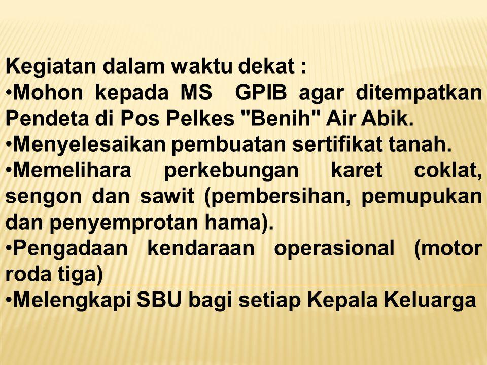 Ibadah Hari Minggu 15 September 2013 di Pos Pelkes Benih Air Abik... mimbarnya unik..