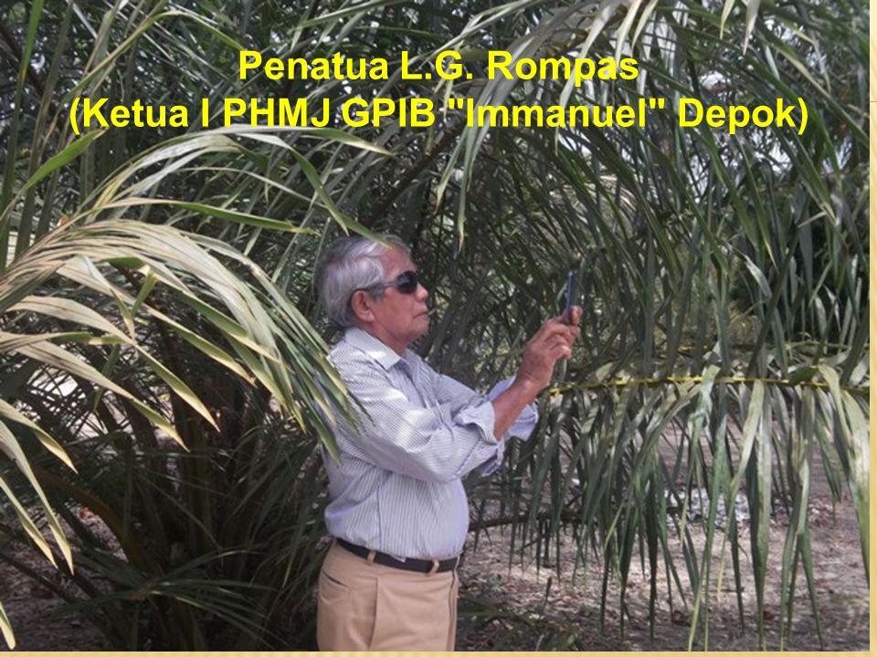 Penatua L.G. Rompas (Ketua I PHMJ GPIB