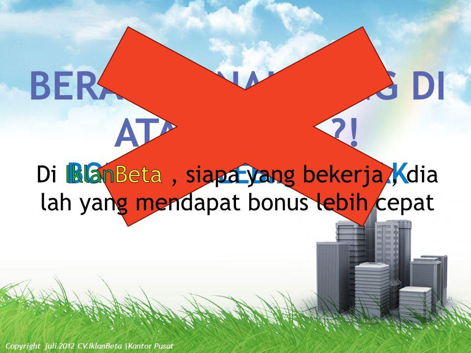 1.Setiap Agen akan mendapatkan WRP sendiri. contoh: www.iklanbeta.com/?id=amir 2.