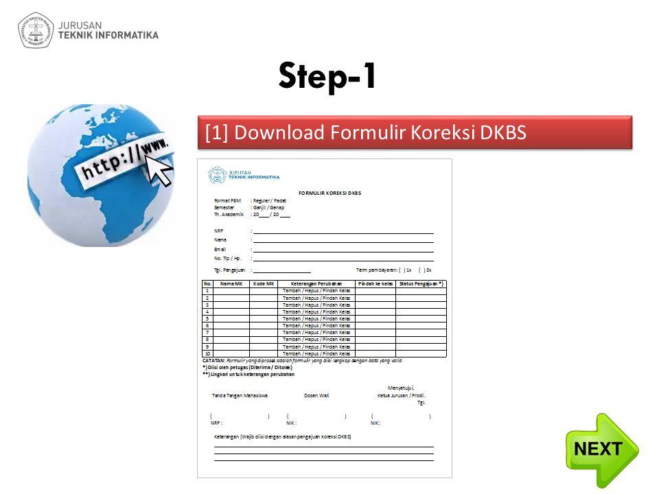 [1] Download Formulir Koreksi DKBS Step-1