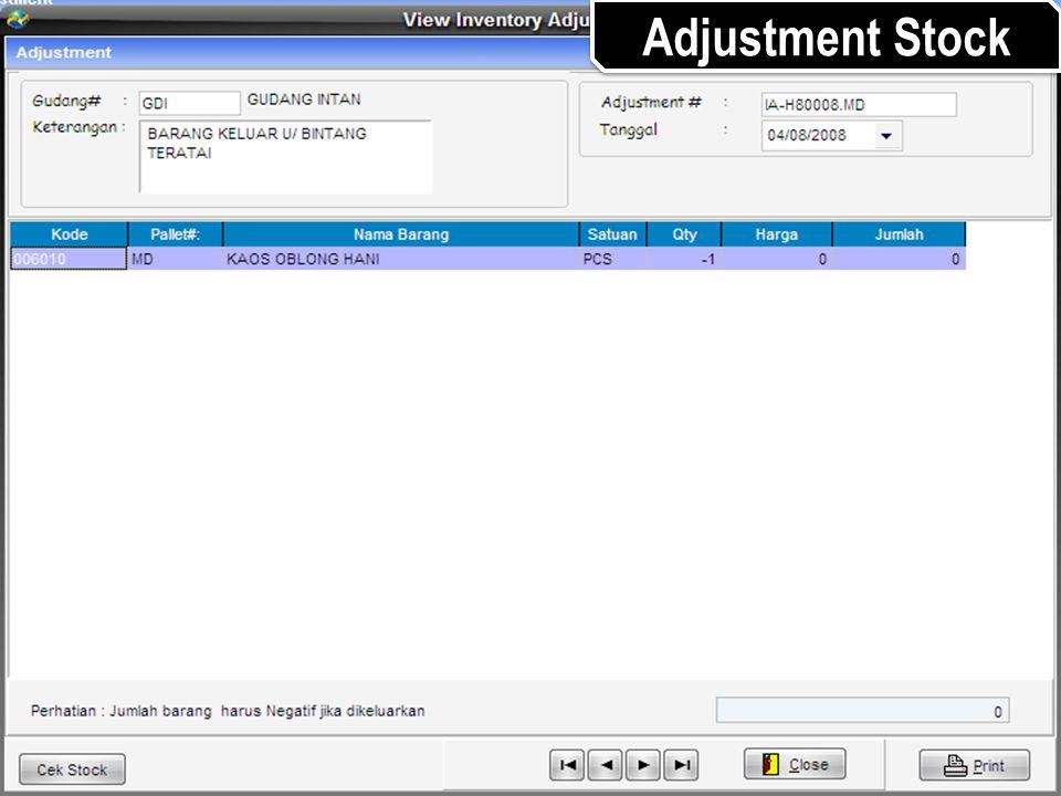 Adjustment Stock